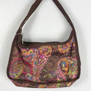 EUC✨LESPORTSAC Mini Hobo Brown Paisley Bag